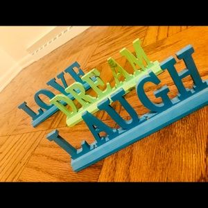 Accessories - Room Decor: LOVE/DREAM/LAUGH